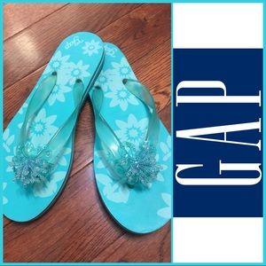 🆕NWOT Women's Gap Aqua Flip Flops